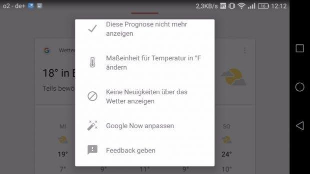 Eine der wenigen verbliebenen Referenzen auf Google Now. (Screenshot: t3n)