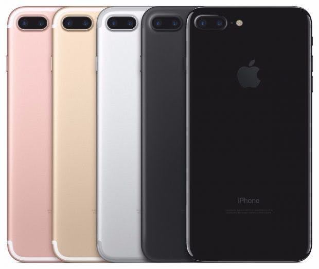 Alle iPhone-7-Farben auf einen Blick. (Bild: Apple)