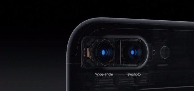 Zwei Kamera sind auf der Rückseite des iPhone 7 Plus verbaut. (Bild: Apple)