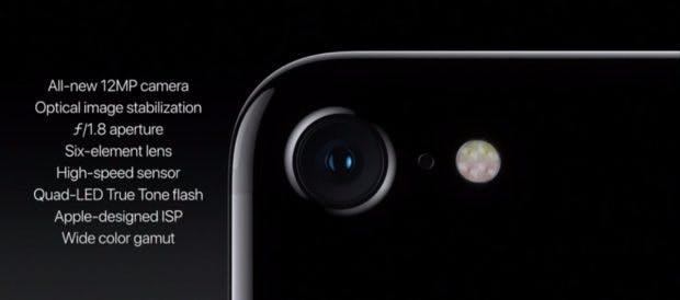 Die neue Kamera des iPhone 7 besitzt eine f/1.8-Blende. (Bild: Apple)