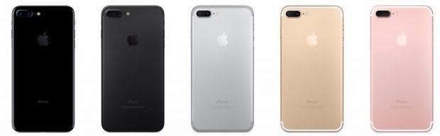 Das iPhone 7 Plus ist in allen Farben vergriffen. (Screenshot: Apple)