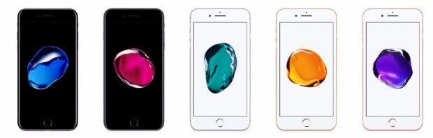 Alle Farben des iPhone 7 Plus auf einen Blick. (Screenshot. Apple)