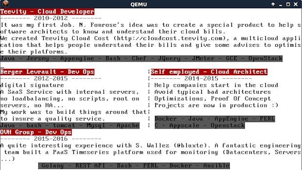 Geniale Lebenslauf-Idee: Entwickler stellt sich über eigenes Betriebssystem vor