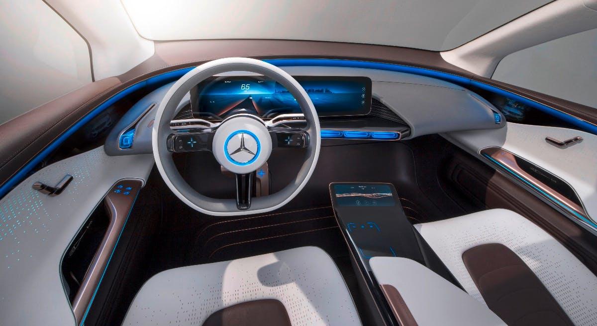 So sieht der elektrische SUV der Generation EQ von innen aus. (Foto: Daimler)