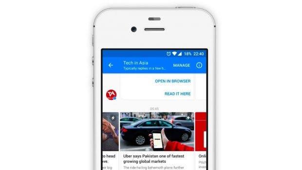 So könnte euer Newsletter im Facebook-Messenger aussehen. (Grafik: Mindiq)