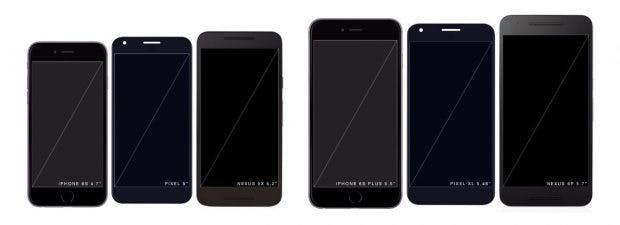 Die beiden neuen Pixel-Smartphones werden verhältnismäßig kompakt. (Bild: Imgur)