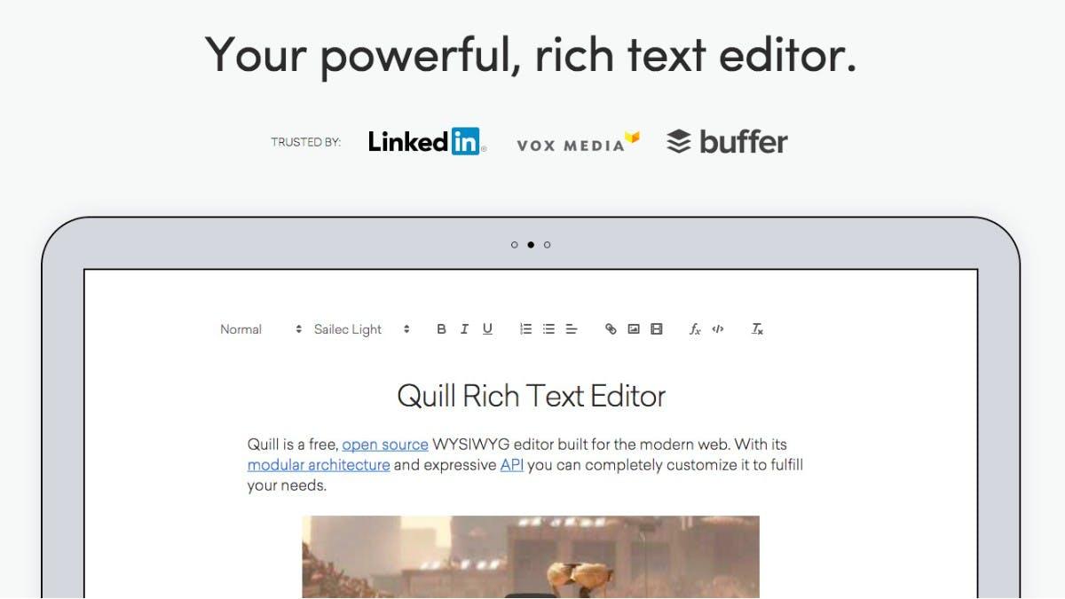 Quelloffener WYSIWYG-Editor für Web-Projekte: Quill 1.0 ist da
