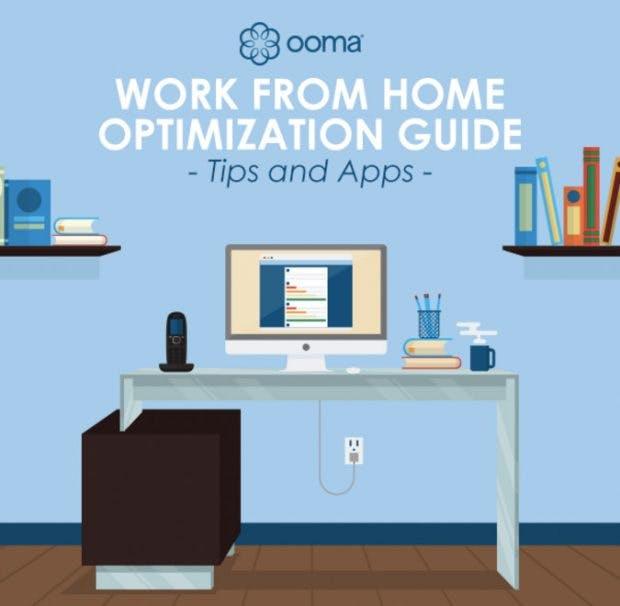 Tipps und Apps zur Optimierung deiner Remote-Arbeit. (Inforafik: Ooma)