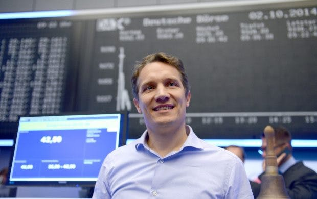 Oliver Samwer 2014 beim Börsengang von Rocket Internet. (Foto: dpa)