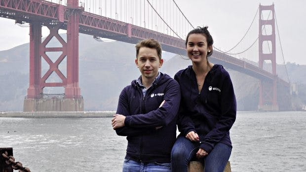 Die Shippo-Gründer Simon Kreuz und Laure Behrens Wu. (Foto: Florian Blaschke)