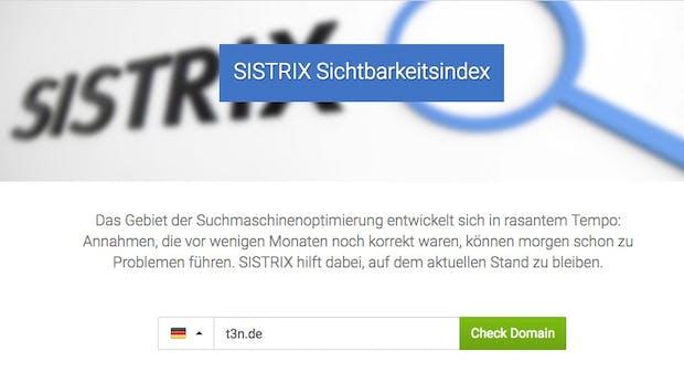Transparente SEO-Analysen: Sistrix startet täglichen Sichtbarkeitsindex