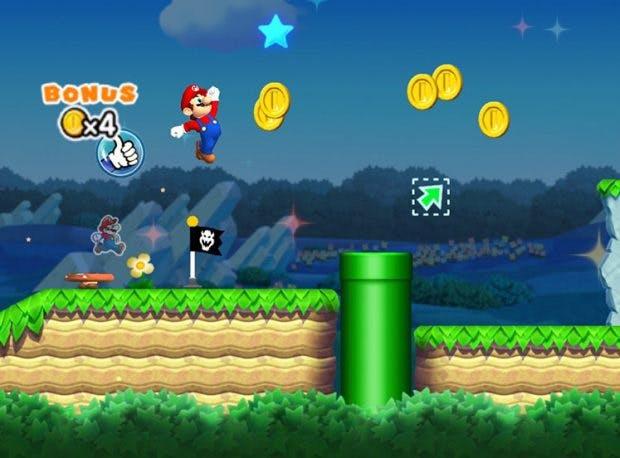 Super Mario Run: Der springende Klempner soll jetzt auch das iPhone erobern. (Screenshot: Nintendo)