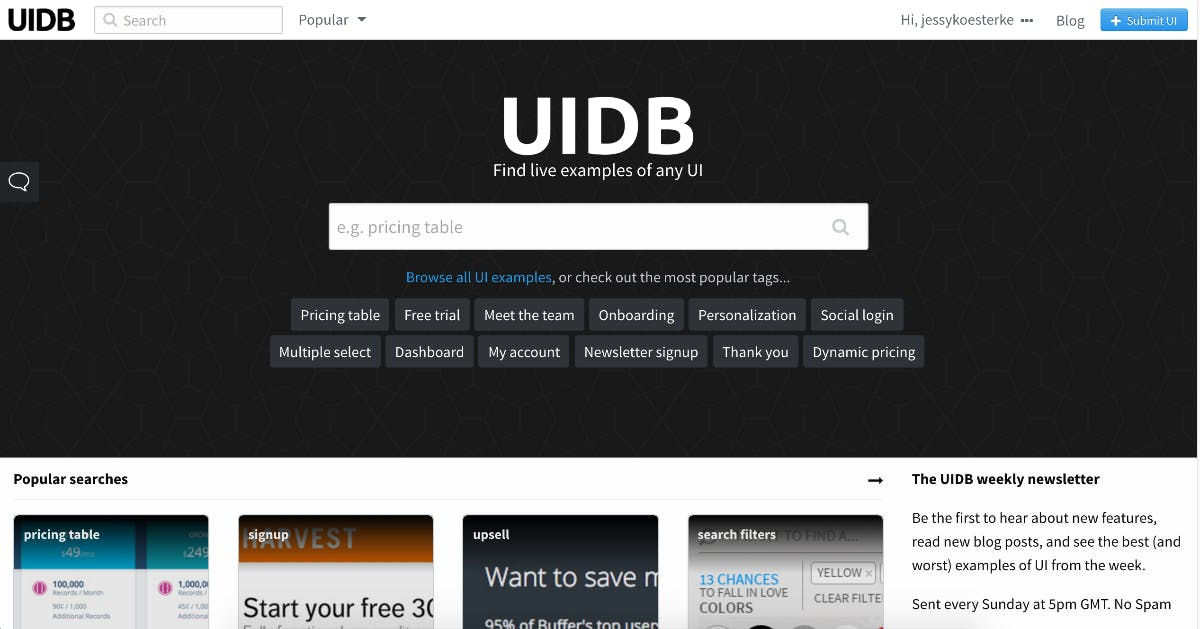 (Screenshot: uidb.io)