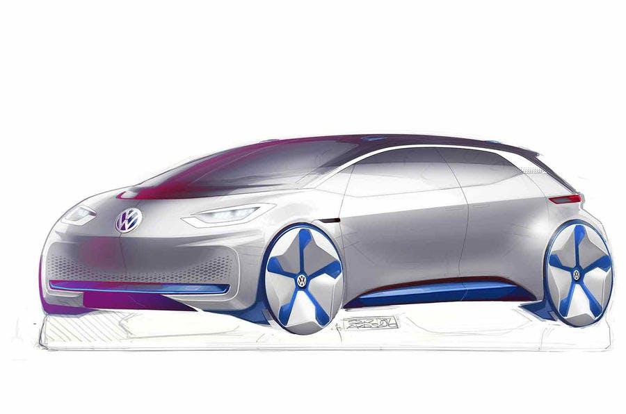 Volkswagen E-Auto-Konzept. (Bild: VW)