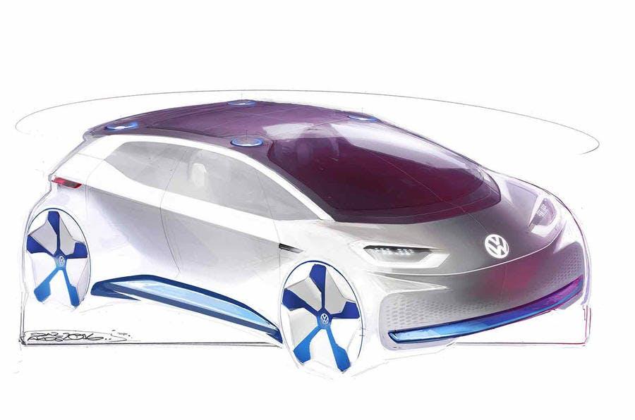 Elektromobilität: Volkswagens E-Auto-Konzept. (Bild: VW)