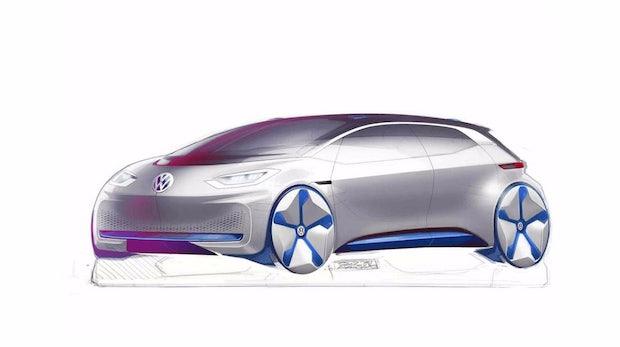 """Designskizzen: Volkswagen gewährt ersten Blick auf """"revolutionäres"""" Elektroauto"""