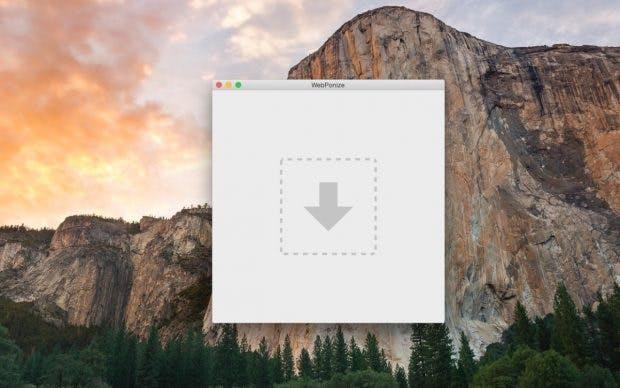 WebPonize für Mac: unkompliziertes Konvertieren ist garantiert. (Screenshot: WebPonize)