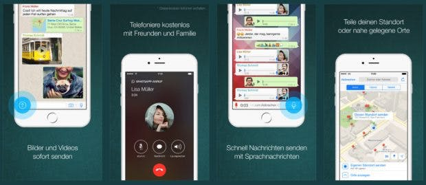 Auch Whatsapp nutzt jetzt einige der neuen iOS-10-Features. (Screenshot: iTunes)