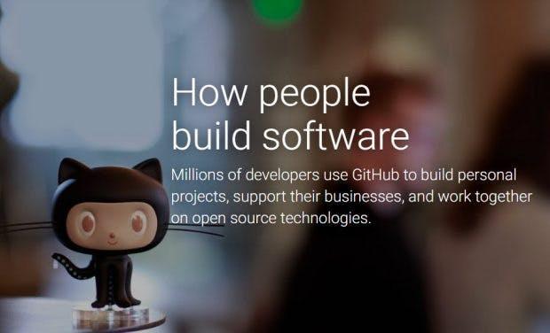 GitHub: Landing Page. (Screenshot: t3n)
