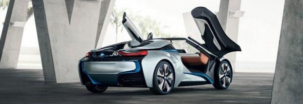 Der offene BMW i8 Spyder soll einige interessante Features haben. (Bild: BMW)