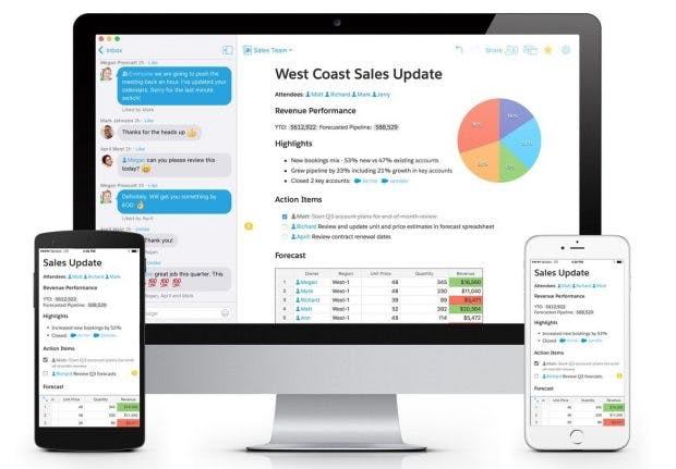 Die Kollaborations-App Quip ist jetzt in die Salesforce1-Plattform integriert worden. (Foto: Salesforce)