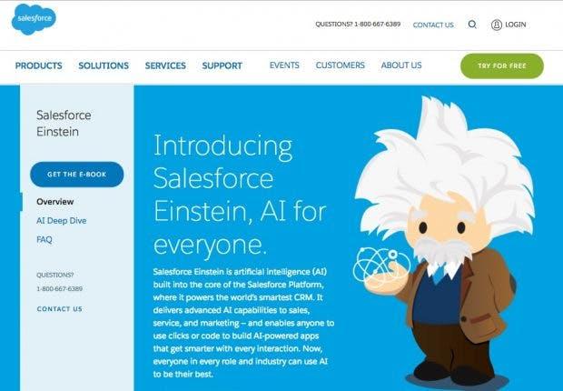 Einstein, die neue AI-Cloud von Salesforce. (Screenshot: Salesforce)