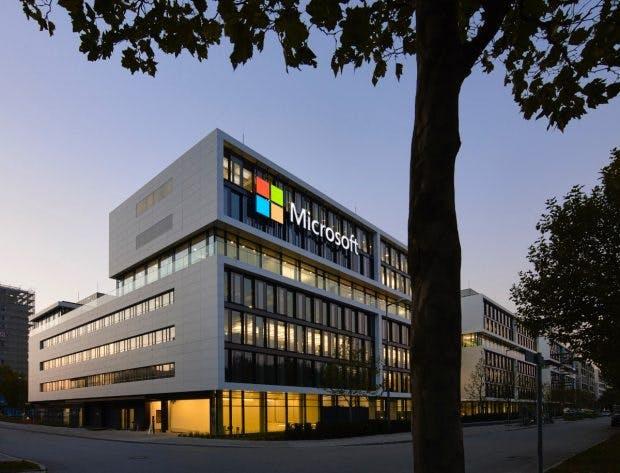 Die neue Microsoft-Deutschlandzentrale im Münchner Stadtteil Schwabing. (Foto: Microsoft)