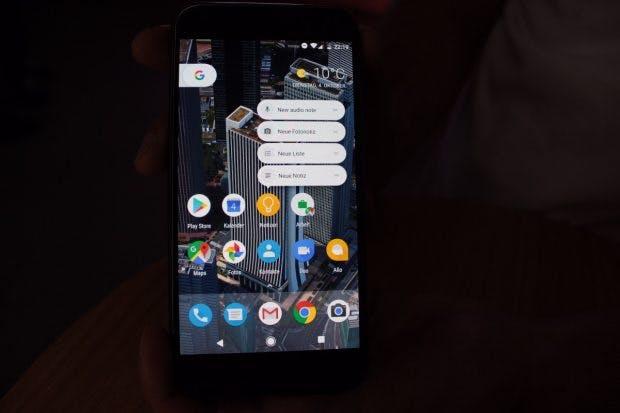 Die App-Shortcuts kommen mit Android 7.1 Nougat auf alle Geräte. (Foto: t3n)