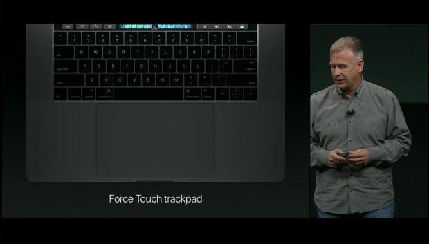 Das Force-Touch-Trackpad ist wieder größer geworden. (Bild: Apple)