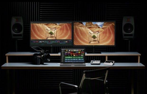 Mit den neuen Macbook Pro können zwei 5K-Displays gleichzeitig angesteuert werden. (Screenshot: Apple)