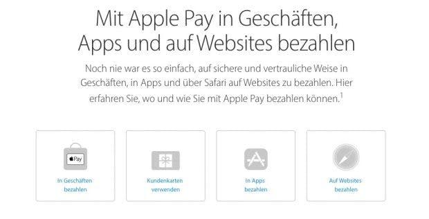 In Deutschland dürfte Apple Pay in Kürze auch endlich starten. (Bild: Apple)