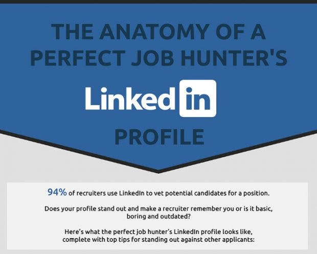 So machst du dein Linkedin-Profil für Headhunter interessant. (Infografik: Bellvue Students)