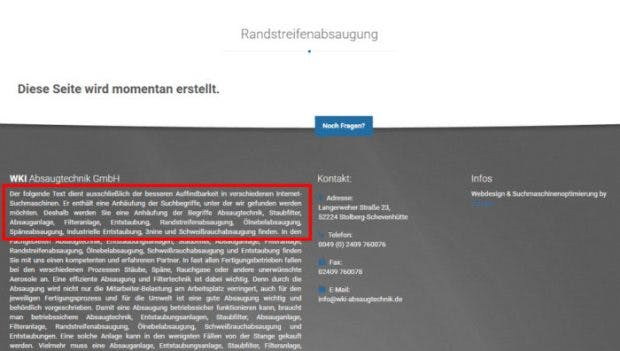 Screenshot: wki-absaugtechnik.de