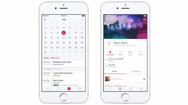 Facebook veröffentlicht eigene Events-App