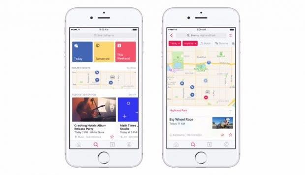 Facebook: Auch Events bekommen jetzt eine separate Mobile-App. (Grafik: Facebook)