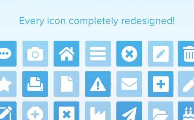 Font Awesome 5 wird vollständig neu gestaltet. (Grafik: Dave Gandy / Kickstarter)