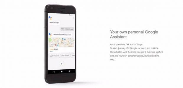 Die beiden Pixel-Modelle werden den Google Assistant an Bord haben und Android 7.1. (Screenshot: t3n; Carphone Warehouse)