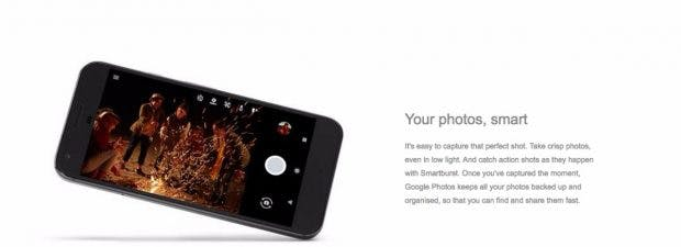 Beide Pixel-Smartphone besitzen eine 12-Megapixel-Kamera mit f/2.0-Blende. (Screenshot: t3n; Carphone Warehouse)