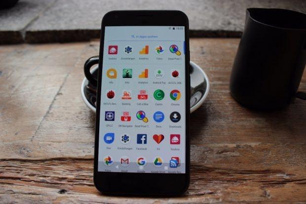 Der App-Drawer des Google Pixel (XL). (Foto: t3n)