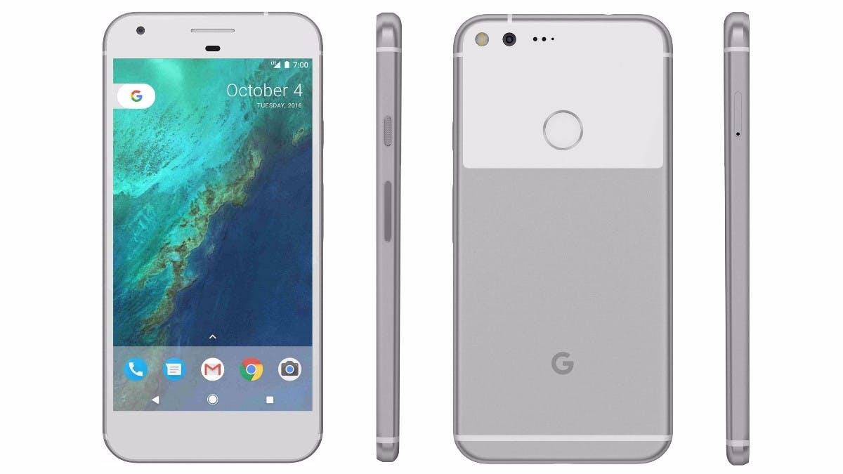 Das Google Pixel XL in Silber. (Bild: Google)