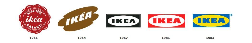 Logo-Redesigns seit 1951. (Screenshot: ikea.de)