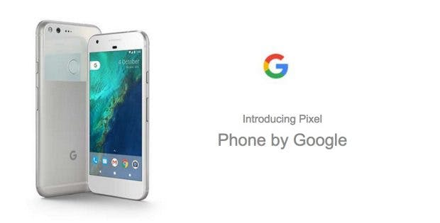 Wir stellen vor: Pixel – das Smartphone von Google. (Screenshot: t3n; Carphone Warehouse)