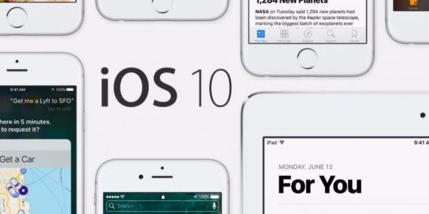 Bald auch in Schwarz? Die Benutzeroberfläche von iOS 10. (Foto: Apple)