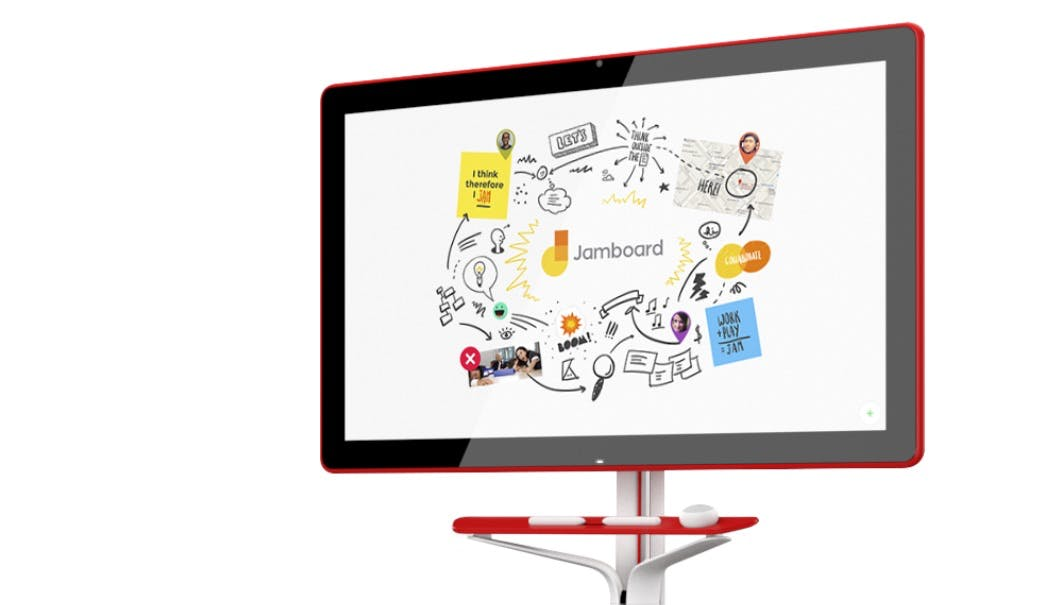 Das Jamboard ist Googles digitale Whiteboard-Alternative für Konferenzen. (Bild: Google)