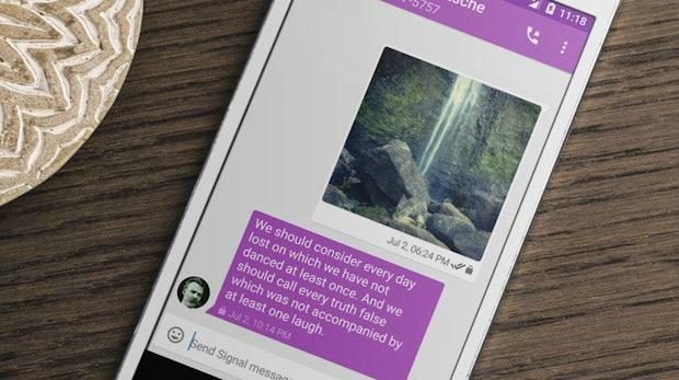 Signal: Open-Source-Messenger kann jetzt Nachrichten verschwinden lassen