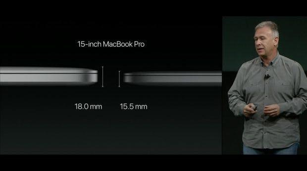 Das 15-Zoll-Modell ist 15,5 Millimeter hoch. (Bild: Apple)