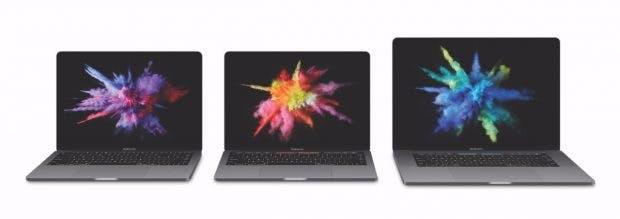 Das ist die neue Macbook-Pro-Familie. (Bild: Apple)