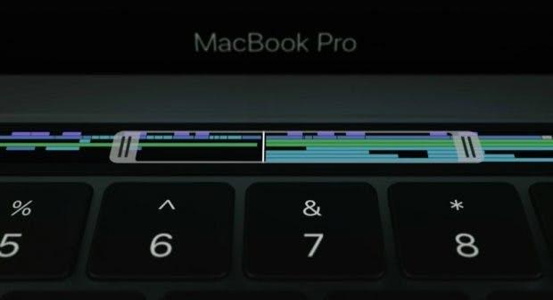 Die Touchbar ist universell einsetzbar - je nach App und Funktion werden spezifische Buttons eingeblendet. (Bild: Apple)