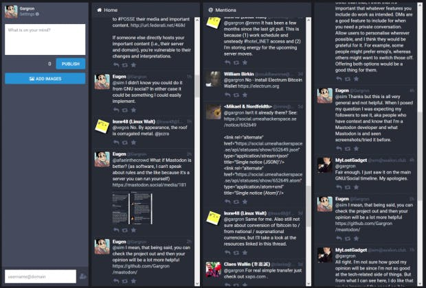 Mastodon in Aktion. (Screenshot: Github)