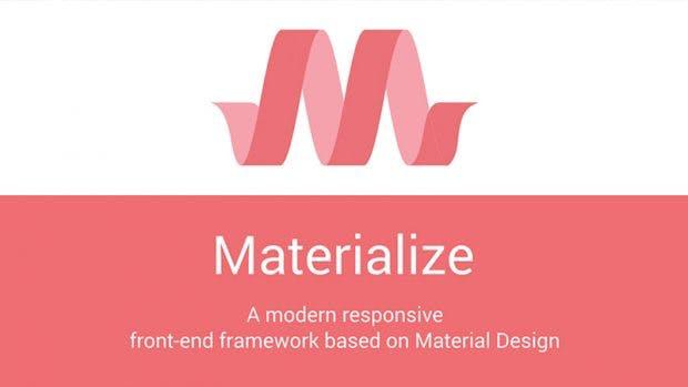 Material Design gefällig: Materialize bietet genau das mit ihrem CSS-Framework. (Screenshot: t3n.de/Materialize)
